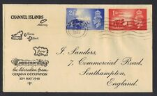 UK GB CHANNEL ISLD 1948 ANNIV OF LIBER SET FDC 10.MAY.1948 JERSEY TO SOUTHAMPTON