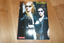 ALICE IN CHAINS : CANTRELL & KINNEY - Poster !!! Au verso : METALLICA : HAMMETT