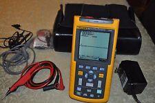 Fluke 124 ScopeMeter 40MHz HandHeld Oscilloscope