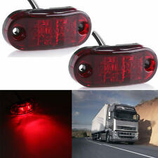 2X 2LED Side Marker Clearance Light Lamp Car Truck Trailer Caravan 10-32V Red