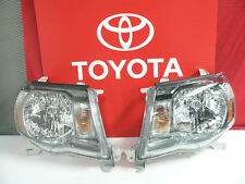 2005-2011 Toyota Tacoma Left and Right Updated Front Headlight Set Genuine OE OE