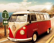 Californian Camper Route One Car Poster 20x16 Poster Service