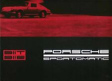 Porsche 911 Sportomatic 1968-69 Original UK Sales Brochure 911T 911E Pub No W14e