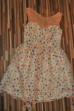 NEW LADIES CHIFFON SUMMER FLORAL Dress Doll & Frog @ Dorothy Perkins SIZE 10