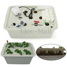 11 Holes Plant Site Hydroponic System Grow Kit Bubble Tub DWC Deep Water Culture