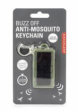 Kikkerland Mosquito Repellent Solar Powered Keychain Electronic Key Ring Gift
