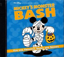 MICKEY'S MONSTER BASH: DISNEY KIDS SPOOKY PARTY SONGS & SCARY SOUNDS CD! NEW!