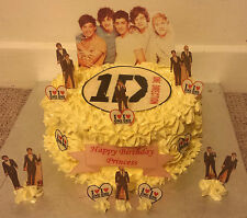 1D One Direction Cup Cake Standup Scene Topper Wafer Edible Birthday Party