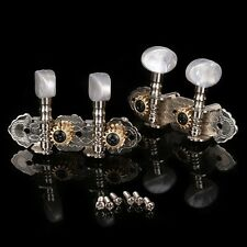 Guitar Tuning Peg Machine Heads Tuner for 4 String Banjo Ukulele Chrome Plate