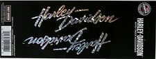 harley davidson script car auto motor cycle decal bike emblem tag sticker HD new