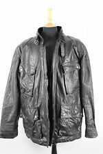 Vintage SCHOTT Bros 4 Pocket Leather full length Motorcycle Biker Jacket  XL