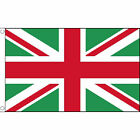 Union Jack Green & Red Flag 5Ft X 3Ft Great Britain Uk Jubilee British Banner