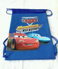 Blue Disney Pixar Cars Backpack Licensed Drawstring Boy's Sling Tote Gym Bag NEW
