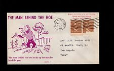 WWII Patriotic Man Hoe 1944 Iowa City 1.5c Pair Red Print Prexy Prexie Cover 2o