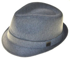 Charcoal Gray Basic Demanded Fedora Hat Youth Size Cap-8~20-sm(hatter)