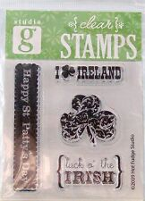 NEW STUDIO G CLEAR STAMP IRELAND LUCK OF IRISH HAPPY ST PATTYS DAY VC0007 193