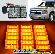 JEEP 4X4 OFFROAD ATV BOAT GOLF CART SECURITY 54 AMBER LED STROBE WARN LAMP BAR N