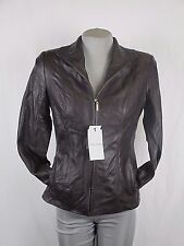 Cole Haan Women S Brown Wing Collar Genuine Leather Jacket MSRP $309.99 X297