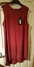 new with tags marks and Spencer limited edition dark orange/brick dress size 16