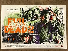 James Rheem Davis Ash Vs Evil Dead 2 II Print Movie Poster Mondo Bruce Campbell