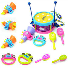 5Pcs/Set Baby Boy Girl Drum Musical Instruments Kids Drum Set Children Toys