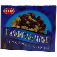 One Box of 10 cones HEM Frankincense & Myrrh Incense  (10 Cones) wholesale