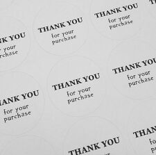50 Thank You For Your Purchase Round Stickers Sheet Text Circle Order Buying