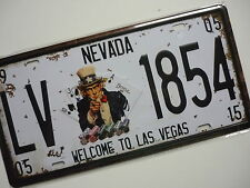 Welcome to Las Vegas Nevada Blech Schild 31,5 x 15cm US Plate USA Poker Kasino