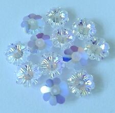 36 Swarovski 3700 Flower Margarita Beads CRYSTAL AB 6mm