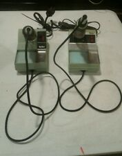 Lot Of 2 Vintage Weller Soldering Iron Station Model WTCPN