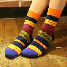 Unisex Stripe Cotton Socks Design Multi-Color Fashion Dress Women's Men's Socks