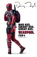 DEADPOOL -  GLOSSY 12x8 POSTER PHOTO PRINT - SIGNED BY RYAN REYNOLDS