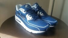 Mens Nike Air Max 90 Athletic Casual Running Shoes Navy / White Size 9.5