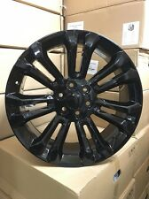 "4 NEW 2015 22"" Gloss Black Wheels OE GMC YUKON DENALI CHEVY SILVERADO TAHOE"
