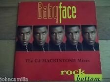 "BABYFACE - ROCK BOTTOM 12"" RECORD / VINYL - EPIC - 660183 6"