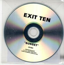 (DG23) Exit Ten, Sunset - 2012 DJ CD