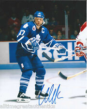 TORONTO MAPLE LEAFS WENDEL CLARK SIGNED 8X10 PHOTO W/COA WENDELL VINTAGE D
