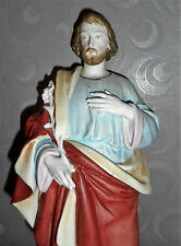 ANCIENNE STATUE RELIGIEUSE/ SAINT JOSEPH / BISCUIT ANDENNE OU SAXE / H.37cm/n°2