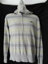 S Small *55 DSL* Ace mens grey knit hoody jumper top
