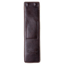 Brown Leather Mens Womens Wrist Watch Protector Case Pocket Holder Travel Pouch