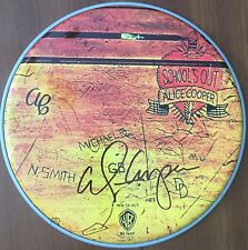 Alice Cooper Signed Autographed Schools Out Limited Edition Drumhead Photo Proof