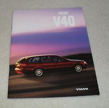 Volvo V40 Brochure 1998 - 1.6 1.8 2.0 1.9 TD SE CD T4