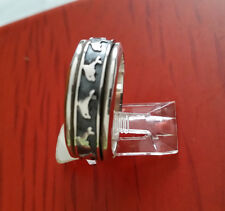 MEN HIGH QUALITY 925 STERLING SILVER DOLPHIN SPINNER RING SIZE 11.5 MEXICO