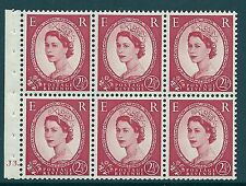 SB80 Wilding booklet pane Tudor Crown perf type Ie cyl J3 Dot UNMOUNTED MNT