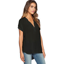Plus Size 6-18 Women Ladies Summer V Neck Tops T-shirt Casual Loose Tunic Blouse