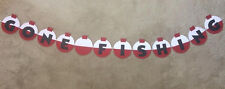 """Hand Made """"GONE FISHING"""" bobber banner.Great for Bitthday Parties.Happy birthday"""