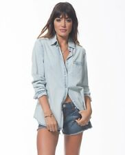 NWT Rip Curl Surf Ventura Button Down Cover-up Shirt Western Indie Top Women's M