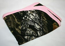 MOSSY OAK CAMO CAMOUFLAGE & PINK INFANT BABY BLANKET