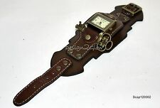SteamPunk Watch Leather wide band Women Men  COOL Naughty Fashion Artistic 1202