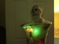 Lifesize COCOON MAN MUMMY WEB ANIMATED Multi Color Blinking LIGHTS HAUNTED PROP